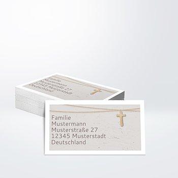 Empfängeraufkleber Taufe - Holzkreuz