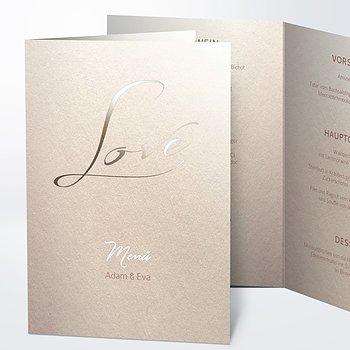 Menükarte Hochzeit - Weicher Glanz