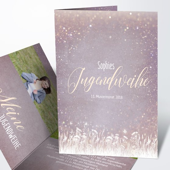 Jugendweihe Karten - Zauberlicht Jugendweihe