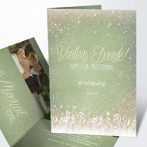 Danksagungskarte Hochzeit - Zauberlicht