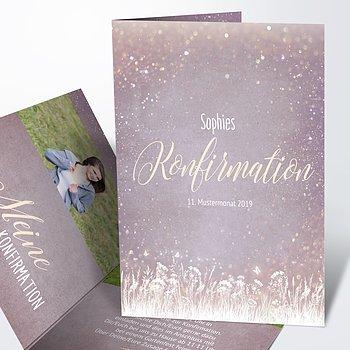 Konfirmationskarten - Zauberlicht Konfirmation