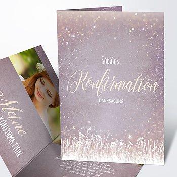 Danksagungen zur Konfirmation - Zauberlicht Konfirmation