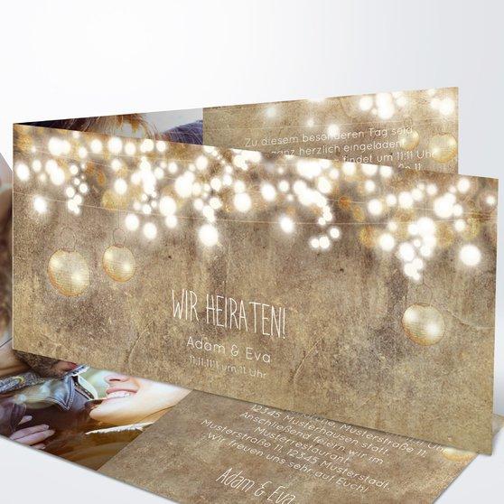 Luminaria - Horizontale Klappkarte 210x100 - Dunkel Bisquite