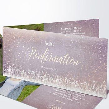Konfirmationskarten   Zauberlicht Konfirmation