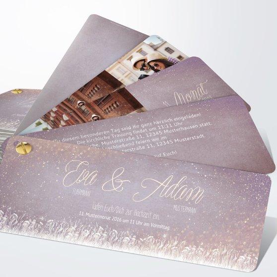 Zauberlicht - Kartenfächer 210x80 - Zartes Violett