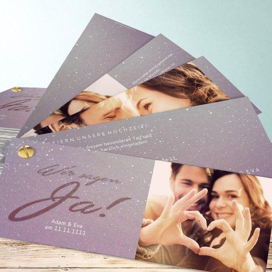 Liebesweg - Kartenfächer 210x80 - Zartes Violett