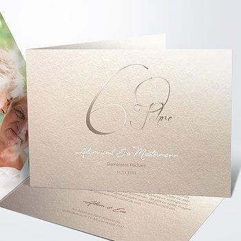 Diamantene Hochzeit Einladung - Diamantglanz
