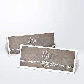 Tischkarten Hochzeit - Liebesknoten