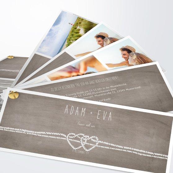 Liebesknoten - Kartenfächer 210x80 - Graubraun