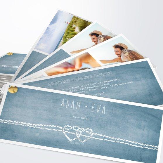 Liebesknoten - Kartenfächer 210x80 - Feines Blau