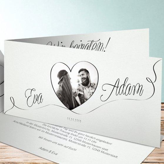 Leichtigkeit - Horizontale Klappkarte 210x100 - Weiß