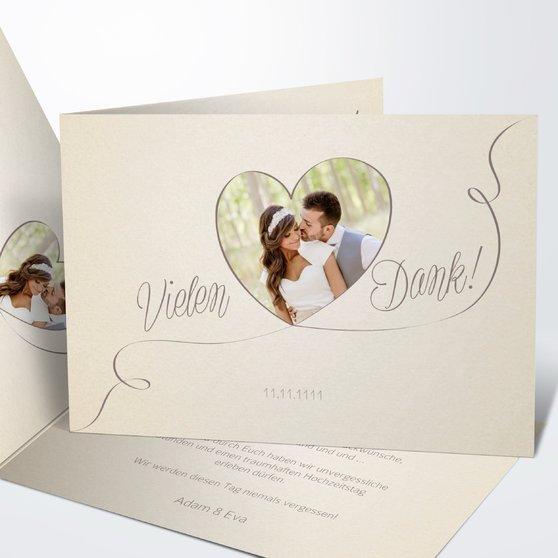 Danksagungskarte Hochzeit - Leichtigkeit