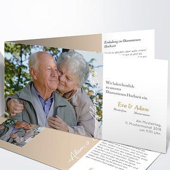 Diamantene Hochzeit Einladung   Nur 60 Jahre