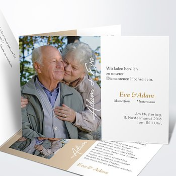 Diamantene Hochzeit Einladung - Nur 60 Jahre