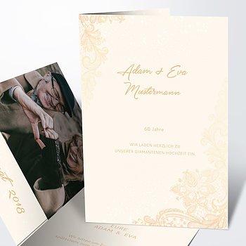 Diamantene Hochzeit Einladung   Liebevolle Anmut