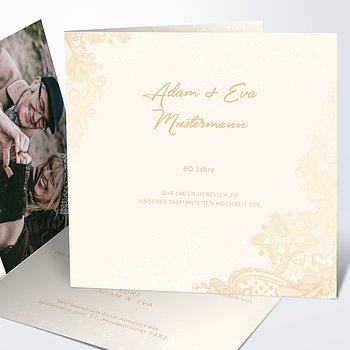 Diamantene Hochzeit Einladung - Liebevolle Anmut