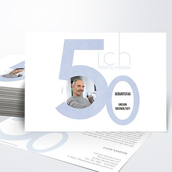 Danksagung Geburtstag - Tolle Nummer 50