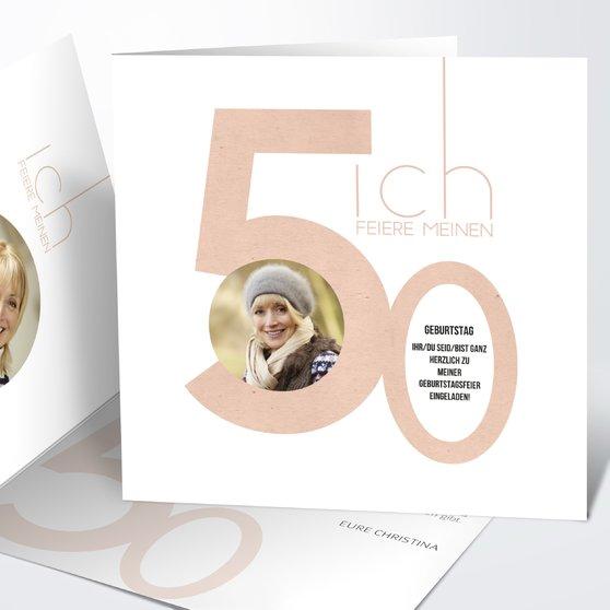 Geburtstagseinladungen - Tolle Nummer 50