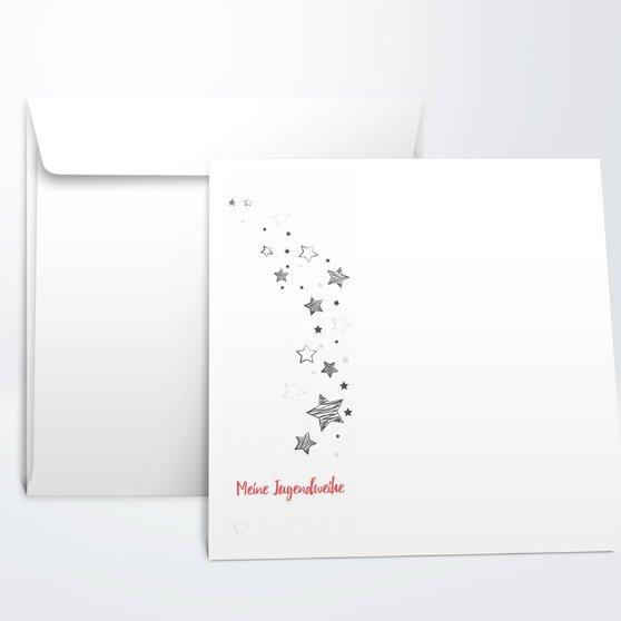 Umschlag mit Design Jugendweihe - Sternenlicht