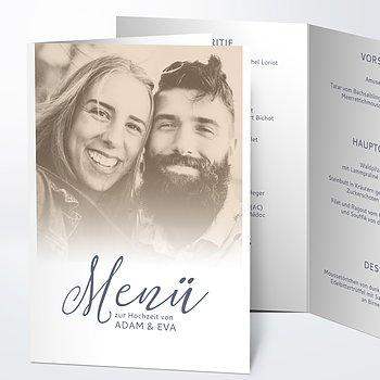 Menükarte Hochzeit - Unsere Bestimmung