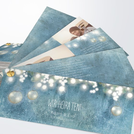 Luminaria - Kartenfächer 210x80 - Feines Blau