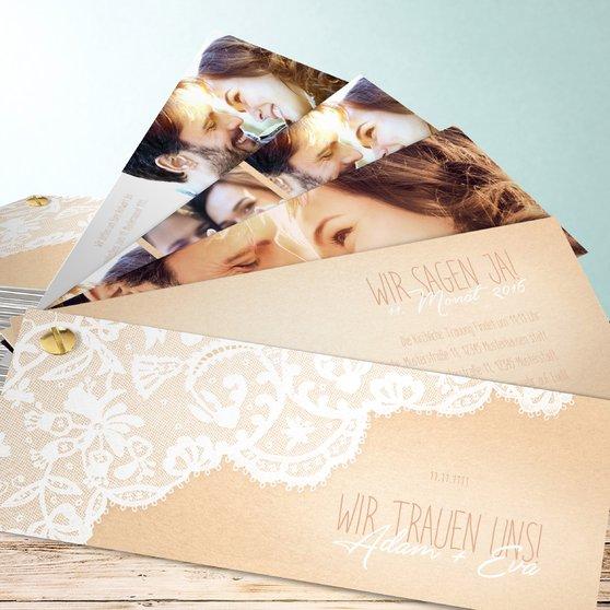 Pastellspitze - Kartenfächer 210x80 - Dunkel Bisquite