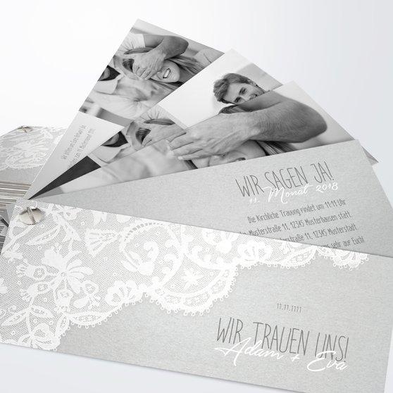 Hochzeitseinladung - Pastellspitze