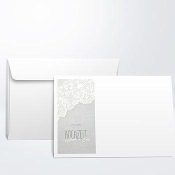Umschlag mit Design Hochzeit - Pastellspitze