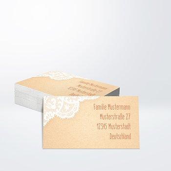 Empfängeraufkleber Hochzeit - Pastellspitze