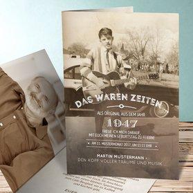 einladungskarten 70. geburtstag - selbst gestalten, Einladungsentwurf