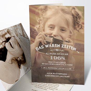 Geburtstagseinladungen - Alte Zeiten 50