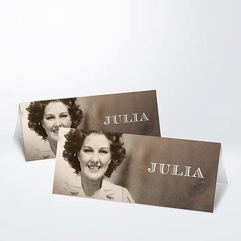 Tischkarten für Ihre Geburtstagsfeier - Alte Zeiten 80