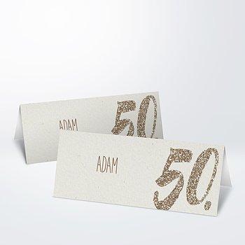 Tischkarten für Ihre Geburtstagsfeier - Goldene Nummer 50
