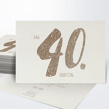 Geburtstagseinladungen   Goldene Nummer 40