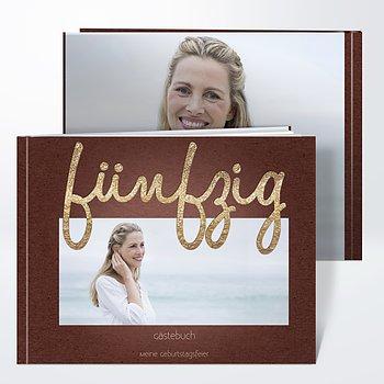 Gästebuch Geburtstag - Goldener Tag 50