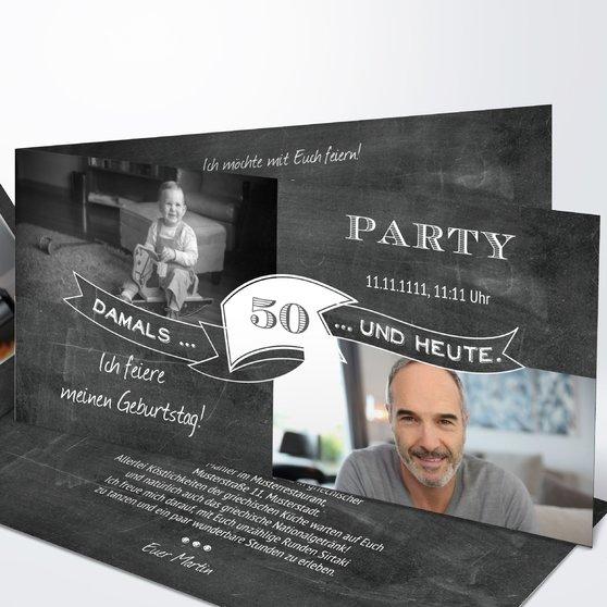 Geburtstagseinladungen - Jahrestafel 50