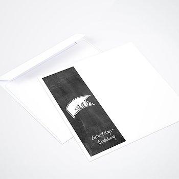 Umschlag mit Design Geburtstag - Jahrestafel