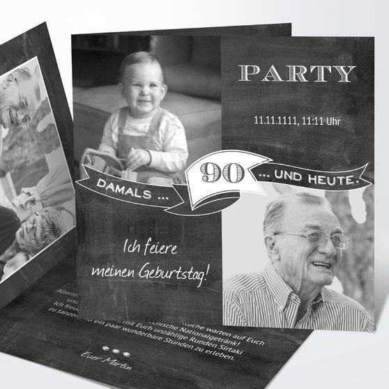 Geburtstagseinladungen - Jahrestafel 90