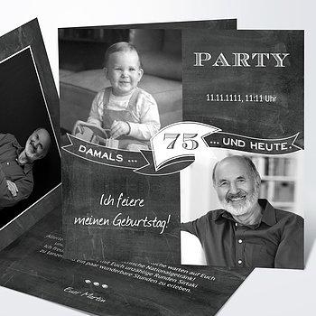 Geburtstagseinladungen - Jahrestafel 75