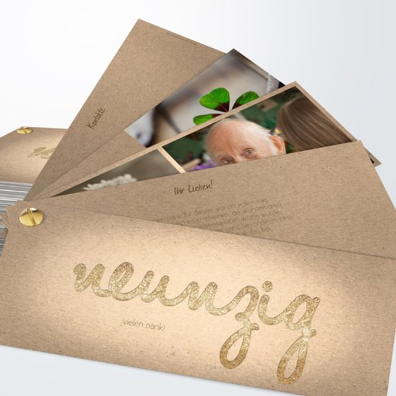 Goldener Tag 90 - Kartenfächer 210x80 - Medium Creme