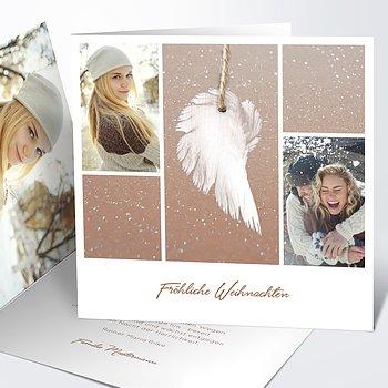 Weihnachtskarten - Zarte Flügel