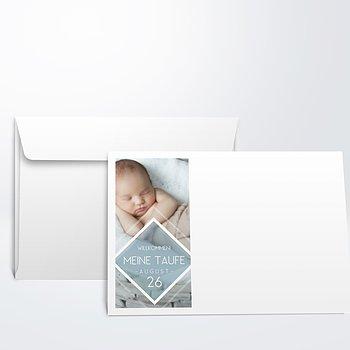 Umschlag mit Design Taufe - Facetten Baby