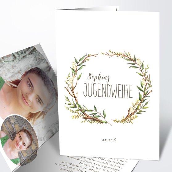 Jugendweihe Karten - Jugendweihekranz