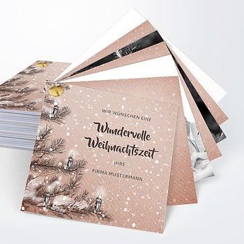 Weihnachtskarten Geschäftlich - Es schneit