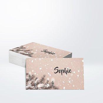 Geschenkaufkleber - Es schneit