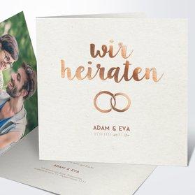 Hochzeitseinladung   Edles Ja