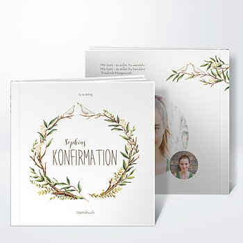 Gästebuch Konfirmation - Konfirmationkranz
