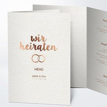 Menükarte Hochzeit - Edles Ja