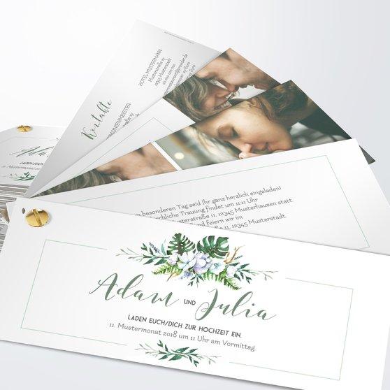 Blütentraum - Kartenfächer 210x80 - Weiß