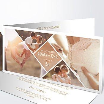 Danksagungskarte Hochzeit - Facetten